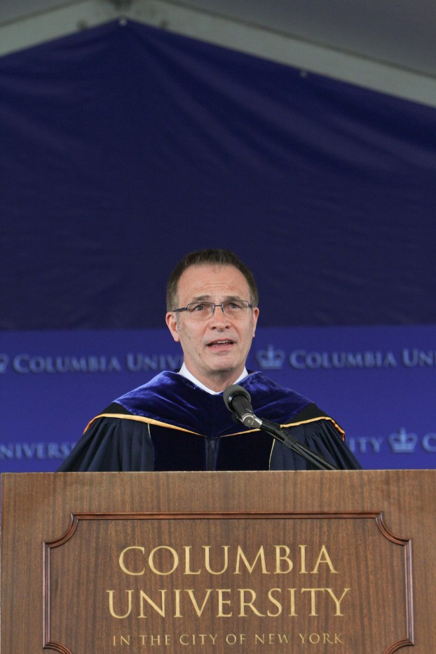 Dean James J. Valentini speaks at Class Day on May 20.