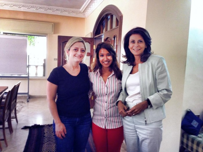 Meghna (center) with her supervisors at the King Hussein Foundation. Photo:Brina Seidel, courtesy Meghna Mukherjee CC'15